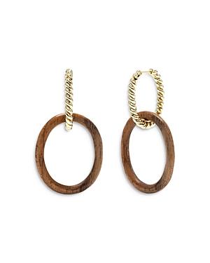 Earth Goddess Hoop Drop Earrings