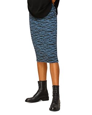 Whistles Tiger Stripe Knit Midi Skirt