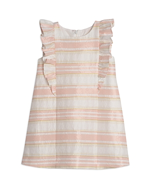 Pippa & Julie GIRLS' STRIPED BROCADE DRESS - LITTLE KID