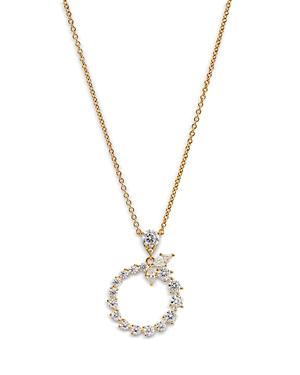 Nadri Leah Cluster Circle Pendant Necklace, 16