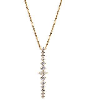 "Nadri - Leah Cubic Zirconia Drop Necklace, 18"""