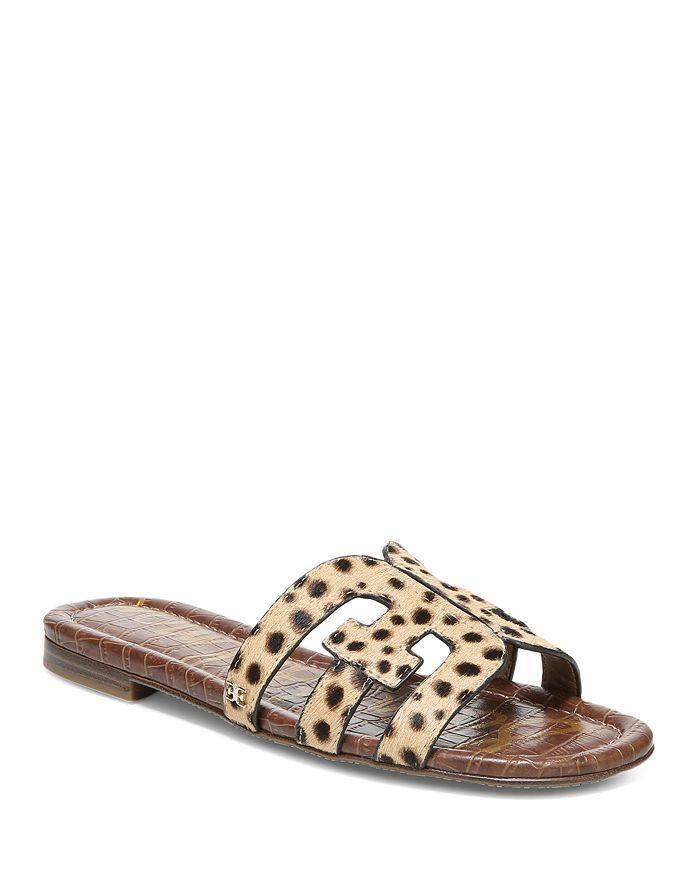 Sam Edelman - Women's Bay Leopard Print Calf Hair Slide Sandals