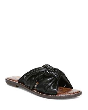 Sam Edelman - Women's Garson Quatro Knot Leather Slide Sandals
