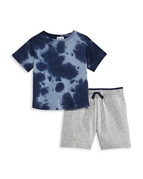 Splendid - Boys' Wavy Tie Dye Tee & Sweatshorts Set - Little Kid