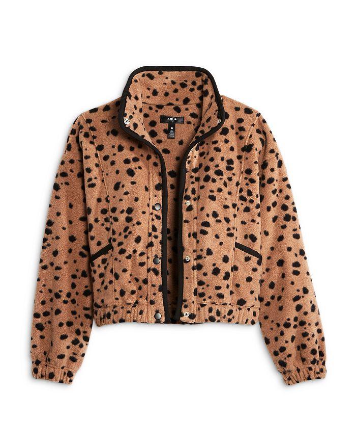 AQUA - Girls' Spotted Sherpa Jacket - Big Kid