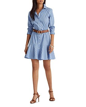 Ralph Lauren - Striped Ruffled Shirt Dress