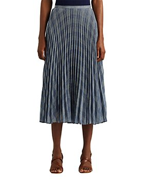 Ralph Lauren - Plaid Pleated Midi Skirt
