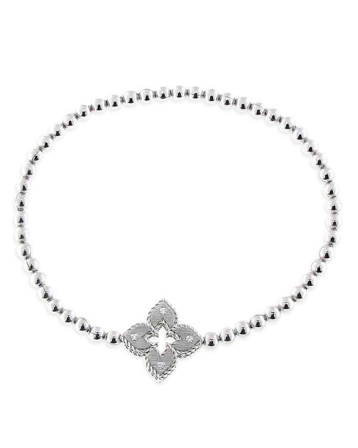Roberto Coin - 18K White Gold Venetian Princess Diamond Stretch Bracelet