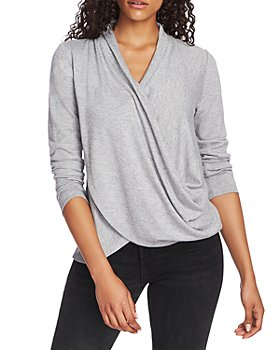 1.STATE - Cross Front Knit Top