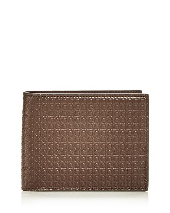 Salvatore Ferragamo - Gancini Embossed Leather Bifold Wallet