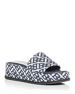 Bally Women's Sylvie Jacquard Logo Platform Slide Sandals