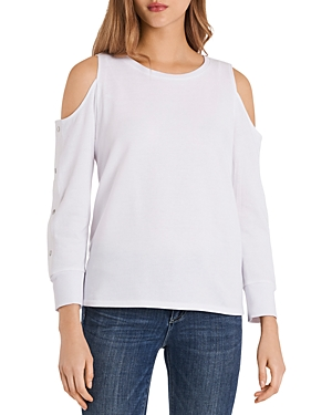 Vince Camuto COLD SHOULDER SNAP SLEEVE TOP