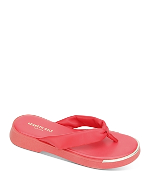 Kenneth Cole Women's Athens Flatform Thong Sandals In Coral