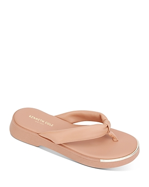 Kenneth Cole Women's Athens Flatform Thong Sandals In Peach