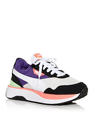 Puma WOMEN'S CRUISE RIDER COLOR BLOCK PLATFORM LOW TOP SNEAKERS