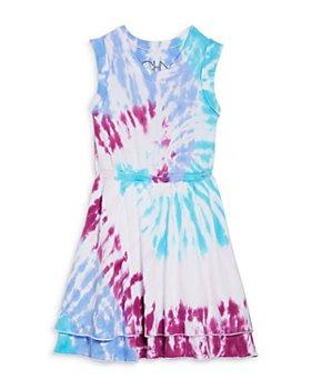 CHASER - Girls' Tie Dye Cotton Sleeveless Dress - Little Kid, Big Kid