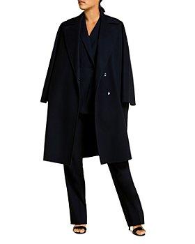 Marina Rinaldi - Tabloidbis Double Breasted Wool Coat