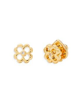 kate spade new york - Pavé Flower Stud Earrings in 14K Gold Plate