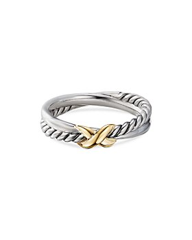 David Yurman - Sterling Silver & 18K Yellow Gold Petite X Ring