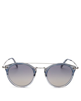 Oliver Peoples - Unisex Remick Brow Bar Round Sunglasses, 50mm