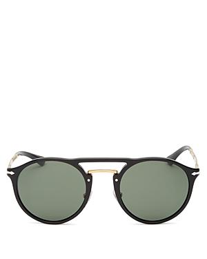 Persol Men's Brow Bar Round Sunglasses, 50mm