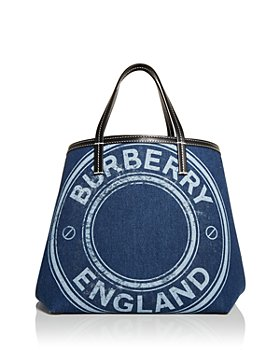 Burberry - Mini Logo Denim Beach Tote