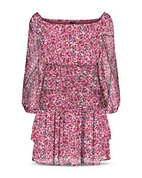 Vero Moda - Floral Print Smocked Dress