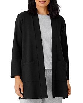 Eileen Fisher - High Collar Long Jacket