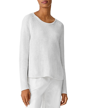 Eileen Fisher CREWNECK LONG SLEEVE SWEATER