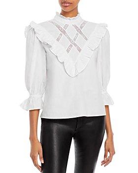 Rahi - Ruffle Lace Cotton Top