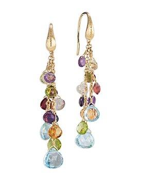 Marco Bicego - 18K Yellow Gold Paradise Mixed Gemstone Drop Earrings