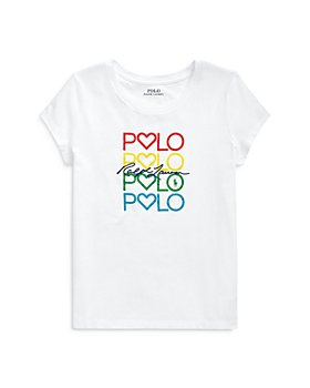 Ralph Lauren - Girls' Graphic Logo Tee - Little Kid, Big Kid