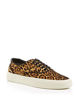 Saint Laurent - Women's Venice Leopard Print Low Top Sneakers