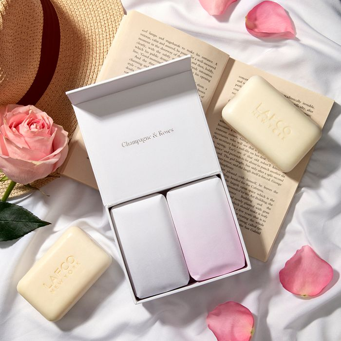 LAFCO Beauty sets CHAMPAGNE & ROSES BAR SOAP DUO