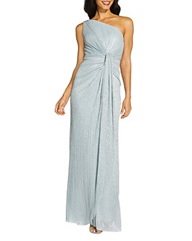 Adrianna Papell - Stardust Pleated One Shoulder Gown