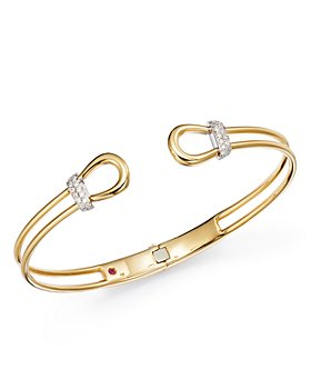 Roberto Coin - Cheval Diamond Bangle Bracelet in 18K Yellow Gold