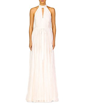 ML Monique Lhuillier - Keyhole Halter A-Line Gown