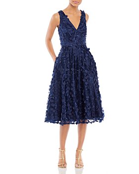 Eliza J - V Neck Fit & Flare Dress