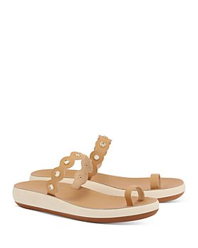Ancient Greek Sandals - Women's Thalia Scalloped Mirror Strap Platform Slide Sandals
