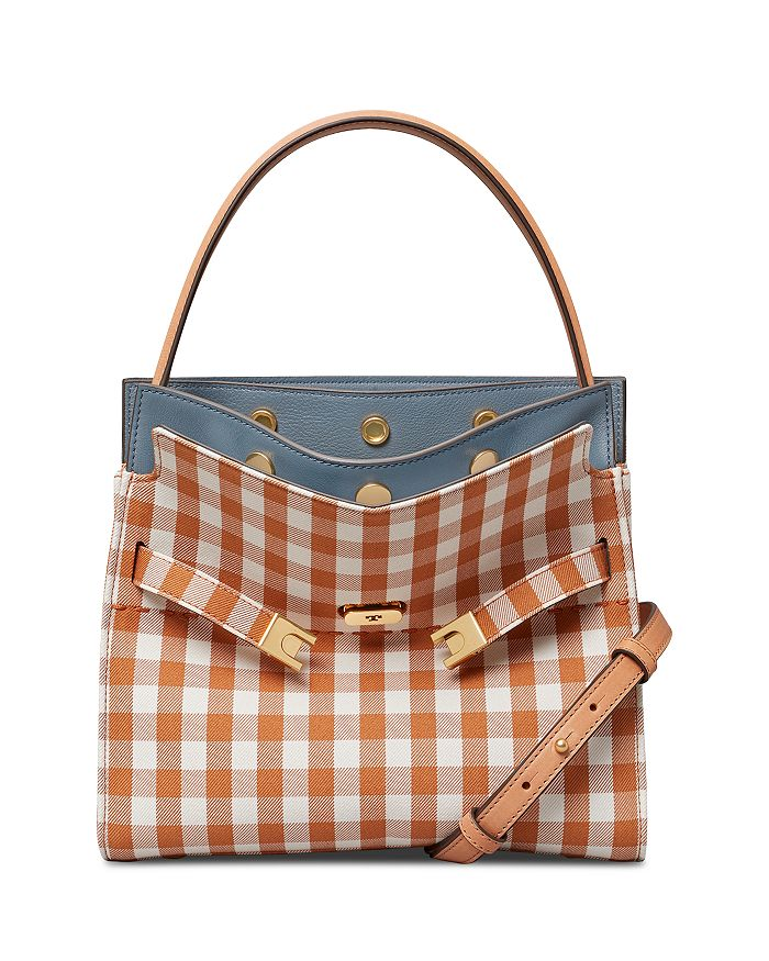 Tory Burch LEE RADZIWILL SMALL GINGHAM DOUBLE SATCHEL