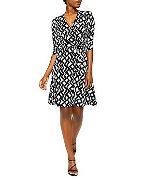 Perfect Wrap Three-Quarter Sleeve Dress