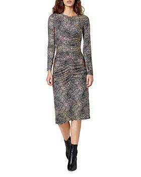 Joie - Aja Animal Spot Ruched Knit Dress