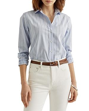 Ralph Lauren Shirts LAUREN RALPH LAUREN STRIPED COTTON BROADCLOTH SHIRT