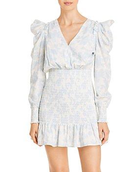 LINI - Lorelai Long Sleeve Smocked Mini Dress - 100% Exclusive