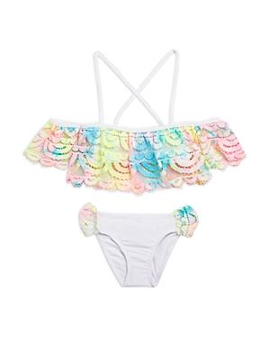 Pq Swim Girls' 2-Pc. Rainbow Lace Swim Suit - Little Kid, Big Kid