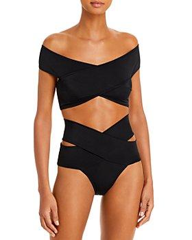 OYE Swimwear - Off The Shoulder Bikini Top & Crisscross Bottoms