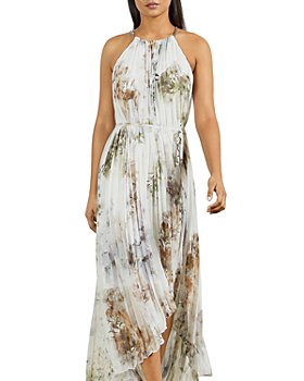Ted Baker - Vanilla Dip Hem Pleated Maxi Dress