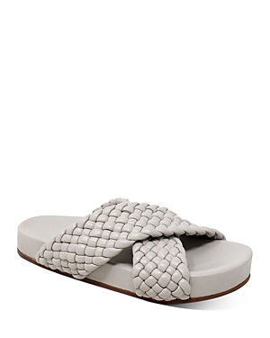 Women's Defend Woven Leather Sandals