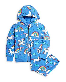 CHASER - Girls' Unicorn Print Zip Hoodie & Jogger Pants Set - Little Kid