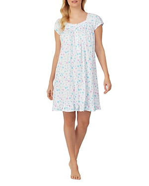 Cotton Printed Lace Trim Nightgown